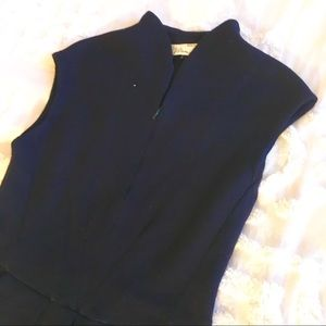 Dresses & Skirts - Navy Blue Midi High Collar Sweater Dress