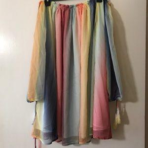Dresses & Skirts - Rainbow Off the Shoulder Dress