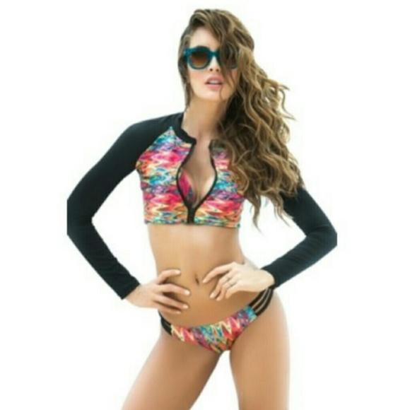 14b24c6a89b32 Mapale 3 piece Swimsuit Bikini with Rash guard. M_5996f2da4225bec8ab019dac
