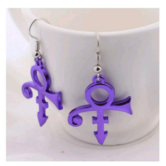 Jewelry Prince Symbol Earrings Purple Poshmark