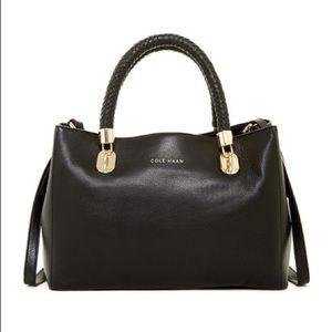 Cole Haan mini Benson tote in black leather