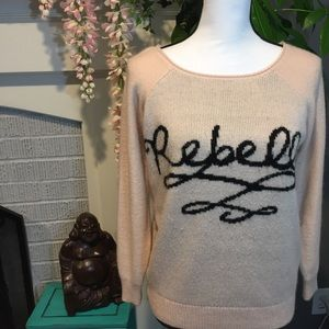 {Pretty Rebellious} oversized Rebelle sweater