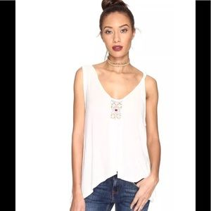 NWT Free People New Vibes Tank Top Ivory Sz Large