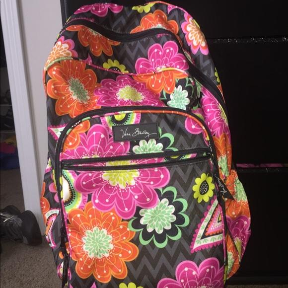 Vera Bradley Waterproof Large Backpack Lunch Box