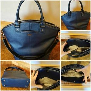 Handbags - SOLDThirty One Jewell Paris Michnight Navy Satchel