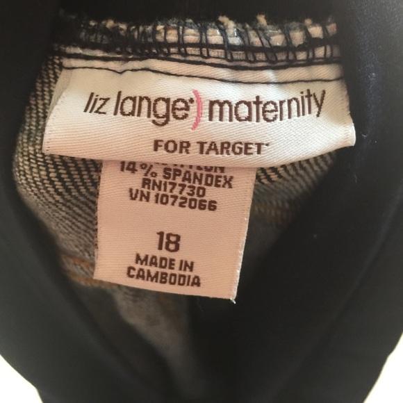 Liz Lange for Target Jeans - Liz Lange Maternity Blue Jean Crops Like New
