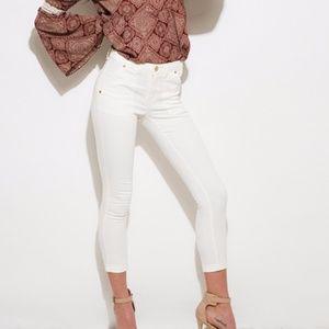Denim - White Capri Skinny Jeans