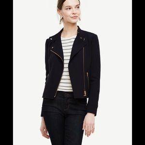 🎊HP outerwear ❤️Ann Taylor flounce motor jacket.
