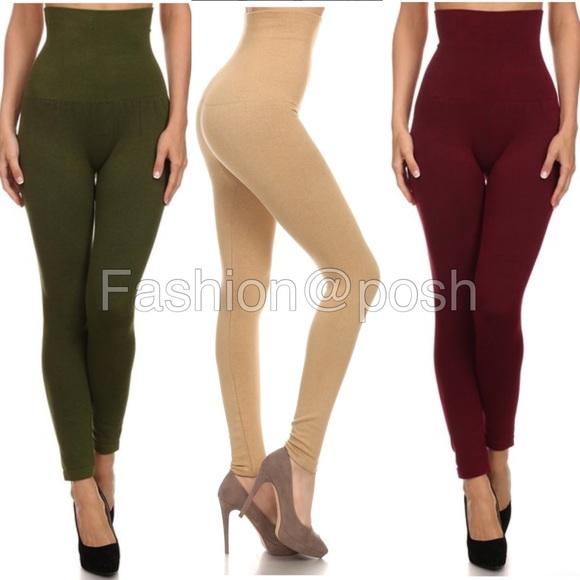 35096ae3a0 Pants | High Waist Compression Leggings Tummy Control Os | Poshmark