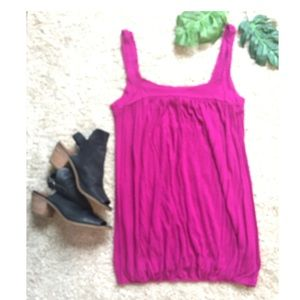 Tops - Purple Magenta Flowy Tank or Tunic Size S