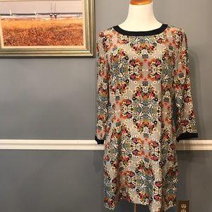[J. Crew] Misty Fog Floral Shift Dress