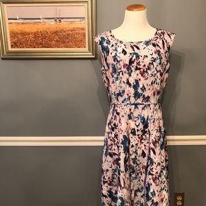 [J. Crew] Flare Dress in Watercolor Floral