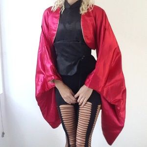 Jackets & Blazers - Epic nwt Covet recon silk red kimono opera jacket