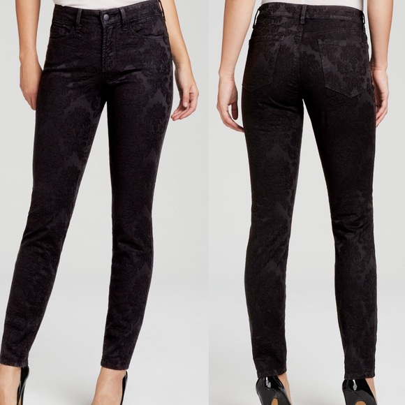 3ace9f672d0b8 NYDJ Alina Legging Jeans Black Floral Jacquard. M_59a090dbb4188ebf8500488d