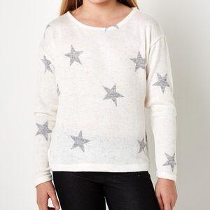 Other - Lon Sleeve Little Girl White Gray Stars 2T 3T 4T