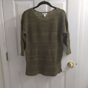 Old Navy Olive Knit Sweater - 8/18