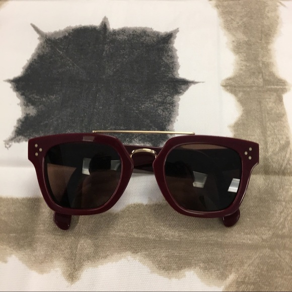88defa037a41 Celine Accessories - Celine Bordeaux Bridge Sunglasses CL 41077 S