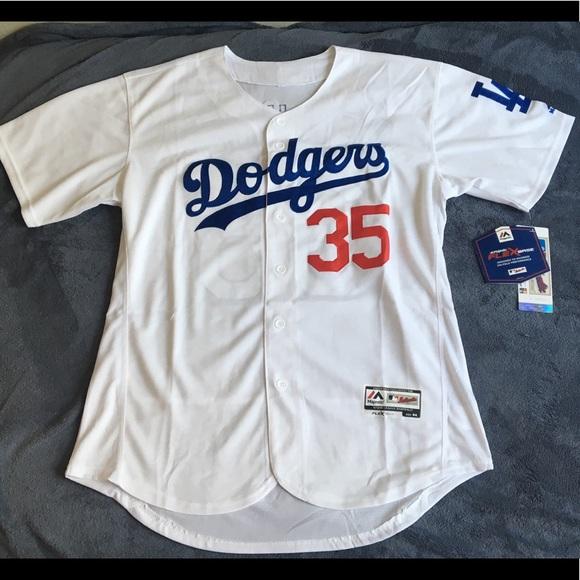 Los Angeles Dodgers  35 bellinger white jersey ba3af71e9
