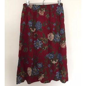 Vintage Fall 90s Floral Skirt