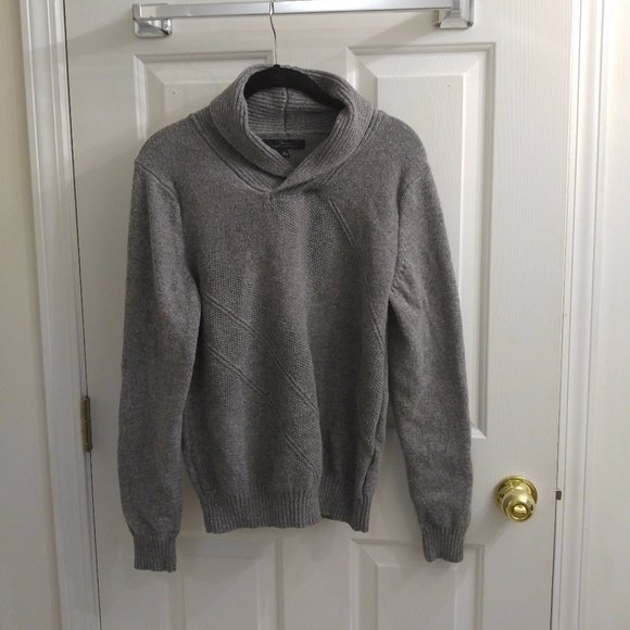 Marc Anthony Other - Marc Anthony Shawl Collar Grey Sweater - 8/18
