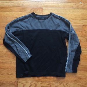 Point Zero Shirts - Point Zero Gray & Black Long-sleeved Shirt