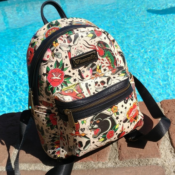 Loungefly Bags Taking Offers Tattoo Mini Backpack Poshmark