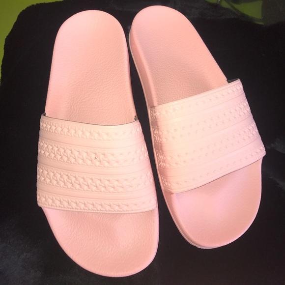 adidas shoes baby pink adilette slides womens 7 mens 6 poshmark