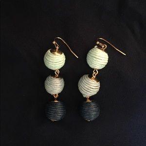 Jewelry - FREE W/ SHOE PURCHASE NWOT blue & gold earrings