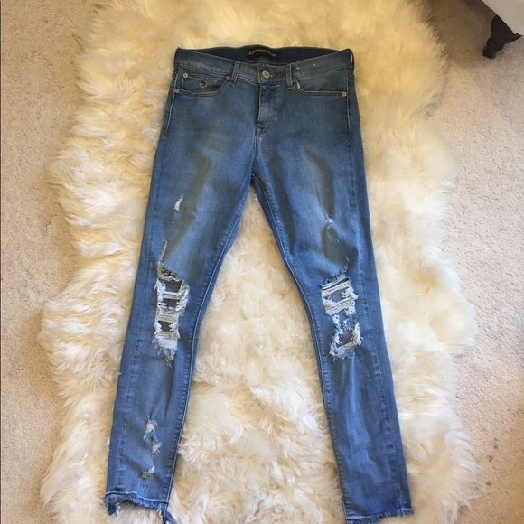 42dba869dce Express Denim - Express cropped distressed skinny jeans!