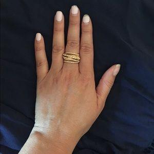 Jewelry - NWOT Rose 🌹 gold & Rhinestone 💎 adjustable ring