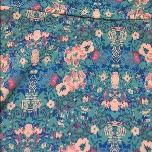 Lularoe blue pink floral maxi skirt