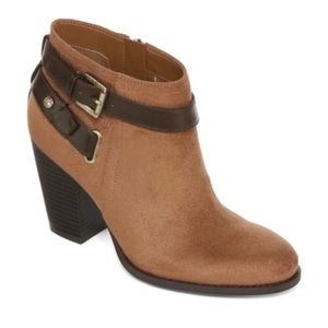 Shoes - Brown Booties with Belt Detail