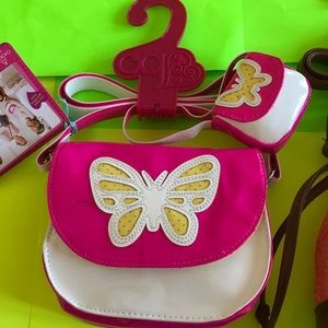 Our Generation Me and You Handbag Pink Butterfly Purse Girls