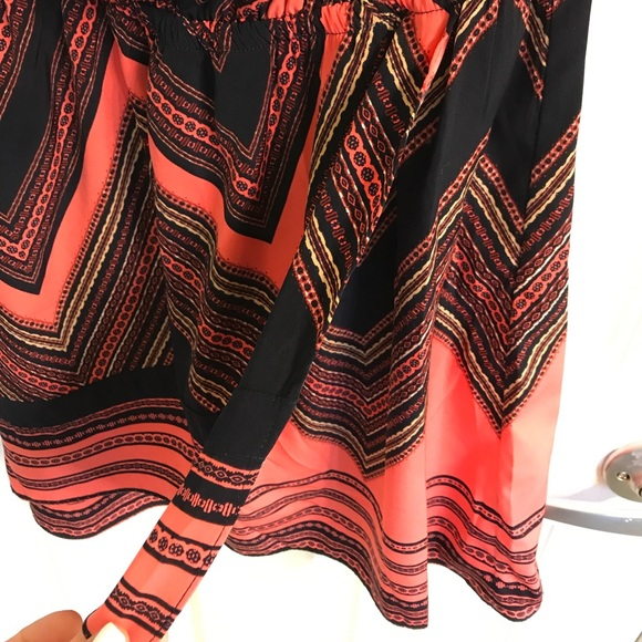 Express Dresses - Strapless chevron pattern dress from Express