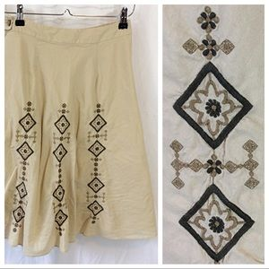 Banana Republic Embroidered Skirt