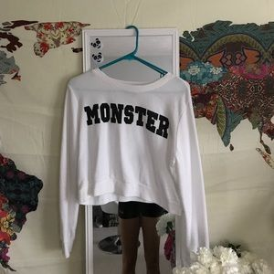 Monster Long Sleeve Crop Top