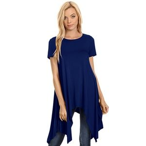 Loose Fit Dress Top Navy Blue New