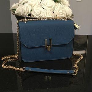 Handbags - Blue crossbody handbag