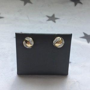 14K Swarovski crystal ball earrings