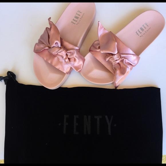 PUMA x Fenty by Rihanna Satin Bow Slides NWT