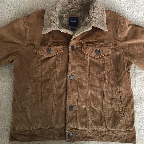 Gap Jackets Coats Kids Corduroy Sherpa Jacket Size L Poshmark