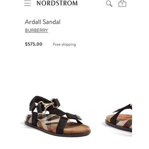 29dba348abe5 Burberry Shoes - Authentic Burberry Ardall Sandals