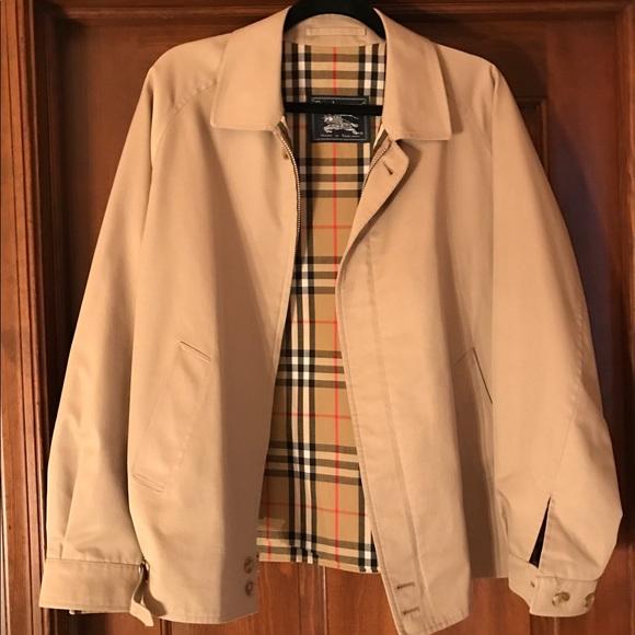 cb3a438bba1a6 Burberry Other - Men s Khaki Vintage Burberry Golf Jacket