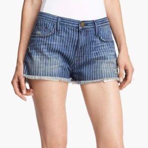 CURRENT/ELLIOTT Boyfriend Pinstripe Shorts