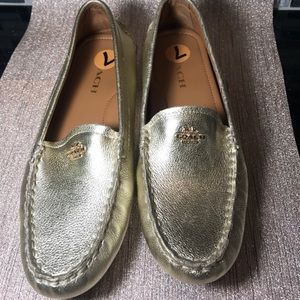 Coach new shoes size 7 gold