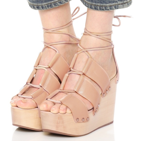 d99e2f447378 Loeffler Randall Shoes - Loeffler Randall Ines Wedge in Nude