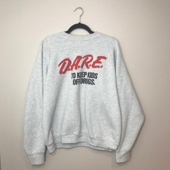cf6f24ef Fruit of the Loom Sweaters - Vintage 90s DARE Crewneck Sweatshirt EUC