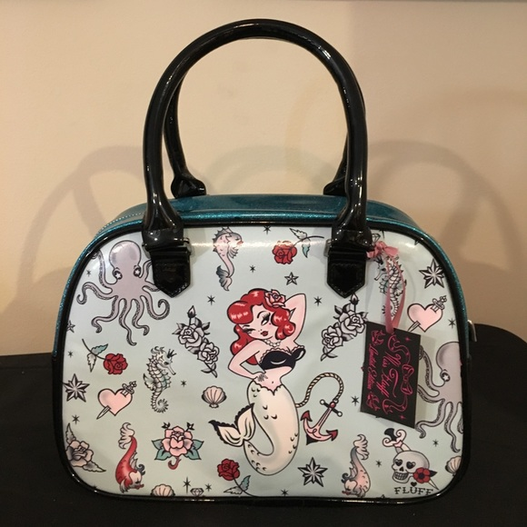 1bfb2c1e91a1 Ms. Fluff MOLLY MERMAID BOWLER BAG Purse Handbag