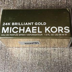 Michael kors 24K brilliant gold perfume new 1 oz