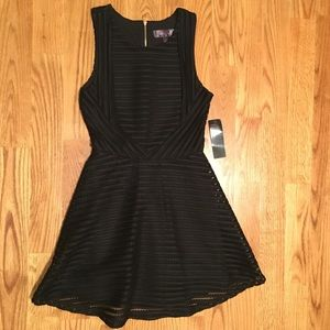NWT Black Fit & Flare Dress